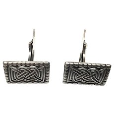 Vintage David Andersen Norway Sterling Silver SAGA Celtic Cufflinks