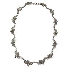 Vintage Danecraft Sterling Silver Acorn Oak Leaf Necklace