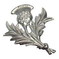Vintage Danecraft Sterling Silver Scottish Thistle Flower Pin/Brooch