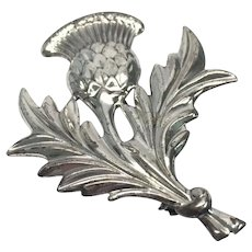 Vintage Danecraft Sterling Silver Scottish Thistle Flower Pin/Brooch