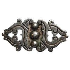 Rafael Melendez Vintage Taxco Mexico 980 Silver Heavy Gauge Pin