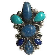 Liz P.M. Navajo Sterling Silver Turquoise Ring