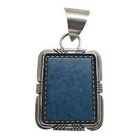 Navajo Robert Noreen Kelly Sterling Silver Lapis Lazuli Pendant