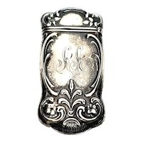 Antique Sterling Silver Gorham Match Safe/Vesta Case with Monogram
