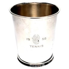 Vintage Sterling Silver Fisher Mint Julep Cup with Monogram