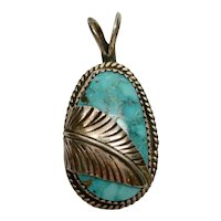 Native American Turquoise Sterling Silver Pendant