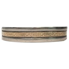 Roderick Tenorio RMT Relios Sterling Silver & 14K Gold Cuff Bracelet