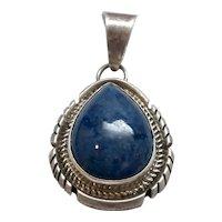 Native American Navajo IHMSS Jon McCray Sterling Silver Lapis Lazuli Pendant