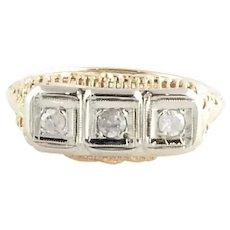 Vintage 14 Karat Yellow Gold and Diamond Ring Size 6