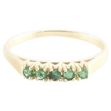 Vintage 14 Karat Yellow Gold and Emerald Ring Size 7.25