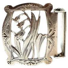 George W Shiebler For Theo B Starr Sterling Silver Belt Sash Buckle