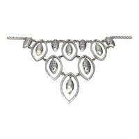 Lois Hill Sterling Silver Hammered Chandelier Bib Necklace