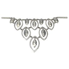 Lois Hill Sterling Silver Hammered Chandelier Bib Necklace