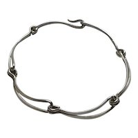 Ed Levin Sterling Silver Open Link Bracelet 6 3/4