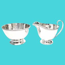 Vintage Tiffany & Co Sterling Silver Sugar Bowl and Creamer Set