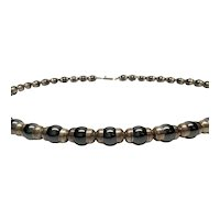 "Taxco Mexico Sterling Silver And Hematite Bead Necklace TH-64, 29 1/4""L"