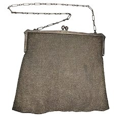 Antique Sterling Silver S.E. Kaupe Chainmail Purse