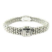 Lagos Caviar 18K Yellow Gold Sterling Silver Quartz Crystal Rope Bracelet