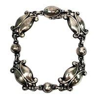 Vintage Georg Jensen Denmark Sterling Silver Moonlight Blossom Bracelet #11