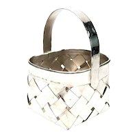 Vintage Cartier Sterling Silver Woven Basket