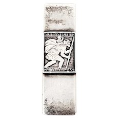 Vintage Charles Thomae Sterling Silver St Christopher Money Clip