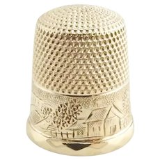 Vintage 14 Karat Yellow Gold Thimble Size 7