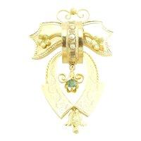 Antique Victorian 18 Karat Yellow Gold Brooch/Pin