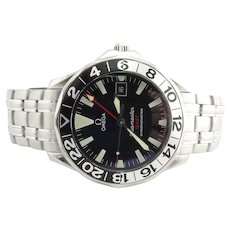2011 Omega Seamaster GMT 50th Anniversary Men's Watch 2534.50 Black Dial Box/Papers