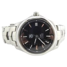 Tag HEUER Link Automatic Men's Watch WJF2210 Black Dial Silver Markers Box/Papers