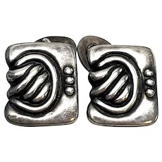 Vintage Los Castillo Taxco Mexico Sterling Silver Cufflinks #897