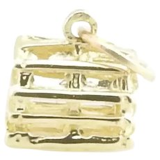 Vintage 14 Karat Yellow Gold Lobster Trap Charm