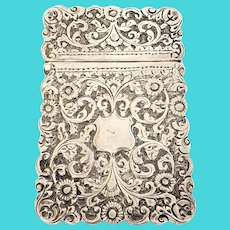 Antique Victorian Silver Calling Card Case