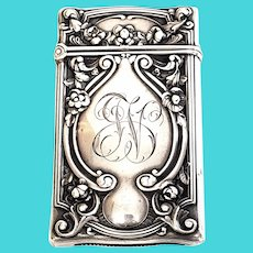 Antique Gorham Sterling Silver Match Case/Vesta Safe with Monogram