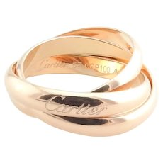 Cartier 18K Rose Gold Trinity Band 3.5mm Size 57 / 8 with box