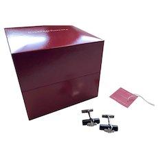 Carrera Y Carrera La Vina Sterling Silver Black Onyx Grapevine Cufflinks Box/Tag