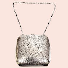 Vintage La Pierre Mfg Co Sterling Silver Compact Coin Purse