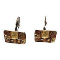 David Andersen Norway Sterling Silver Autumn Cufflinks with Enamel
