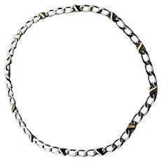 """Tiffany & Co. 18K Yellow Gold Sterling Silver Curb Link Chain 16"""""""