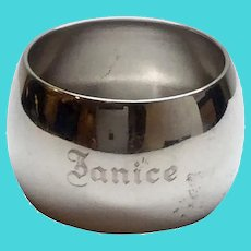 Vintage David Andersen 830 Silver Solid Plain Napkin Ring