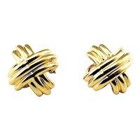 Vintage Tiffany & Co. 18 Karat Yellow Gold Clip On Earrings