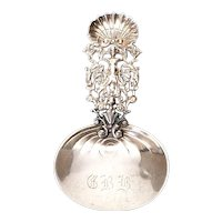 Antique Gorham Sterling Silver Tea Caddy Spoon #450 with Monogram