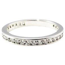 Vintage Tiffany & Co. Platinum and Diamond Eternity Wedding Band Size 6.5