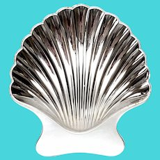Vintage Tiffany & Co Sterling Silver Shell Dish