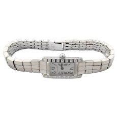 Cartier Tank Allongee Lanieres  #2544 18K White Gold Diamond Ladies Watch Quartz w/box