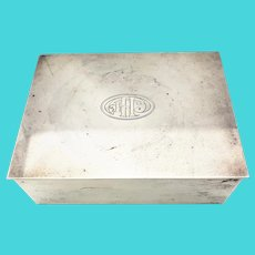 Vintage Tiffany & Co. Sterling Silver Trinket Jewelry Box Monogrammed