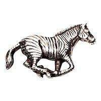Vintage Carol Felley 1991 Running Zebra Pin