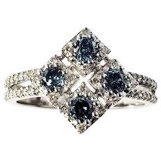 Vintage 14 Karat White Gold and Diamond Ring Size 7.25