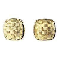 Vintage 14 Karat Yellow Gold Earrings