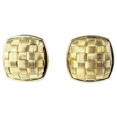 Vintage 14 Karat Yellow Gold Earrings