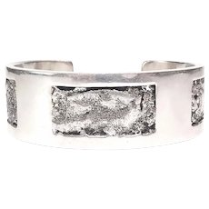 Native American Signed LL Sterling Silver Cuff Bracelet